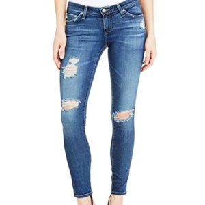 AG Legging Ankle Crop Distressed Skinny Jeans